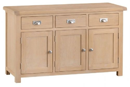 Oxford Oak 3 Door 3 Drawer Sideboard